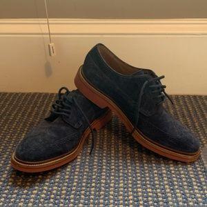 Men's Cole Haan Blue Suede Oxfords Size 9.5